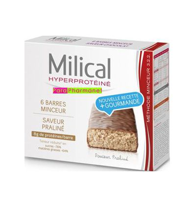 Thinnes Bars Hyperproteined praline Milical