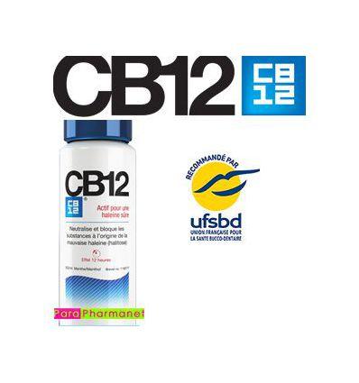 CB12 bleu sûre actif pour haleine 250ml bain de bouche menthe