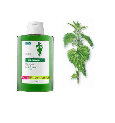 Shampoing à l'ortie séborégulateur cheveux gras 400 ml Klorane