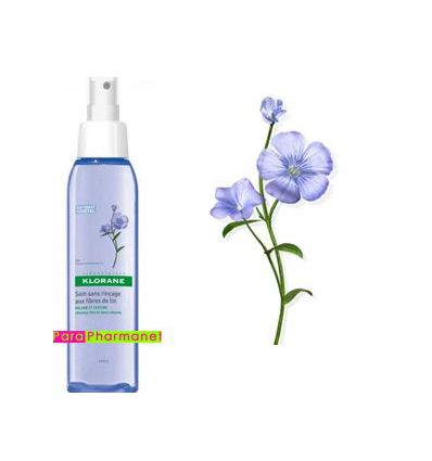 Leave-in spray with flax fiber volume hair fine Klorane