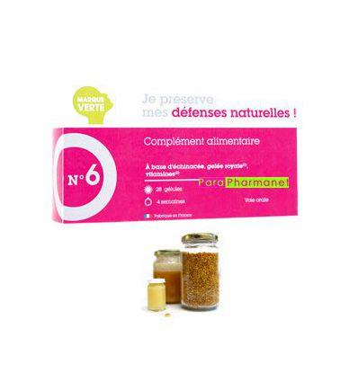 NATURAL DEFENSES FOOD SUPPLEMENT 28 capsules MARQUE VERTE N°6