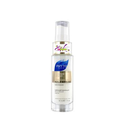 Huile soyeuse fluide hydratant cheveux secs & fins 30 ml Phyto
