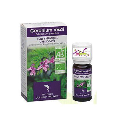 Huile essentielle BIO Géranium Rosat Docteur Valnet