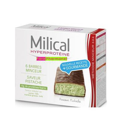 Barres Minceur pistache hyperprotéinée Milical