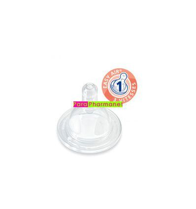 Teat silicone wide collar by 2 0 - 6 months flow 1 DODIE baby