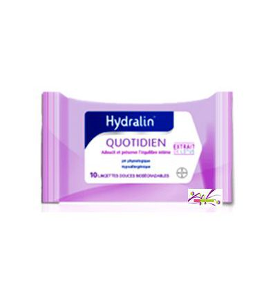 Hydralin QUOTIDIEN (apaisa) lingettes intimes -10 lingettes