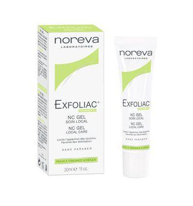 NC Gel Soin local EXFOLIAC peaux acnéiques