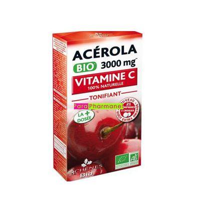 Acérola bio 3000 mg Vitamine C Les 3 Chênes