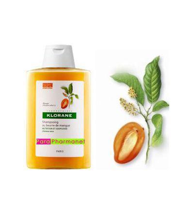 Shampoing traitant au beurre de mangue 400 ml Klorane