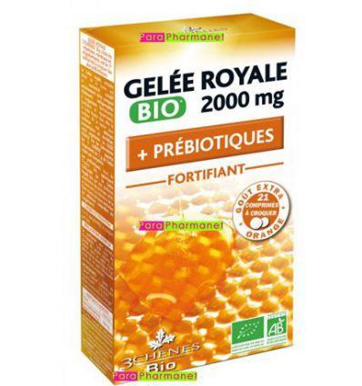 Royal jelly 2000 mg organic + prebiotics 3 Chênes