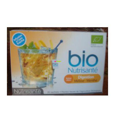 Infusion Digestion balm Mint with frsh water Bio Nutrisanté