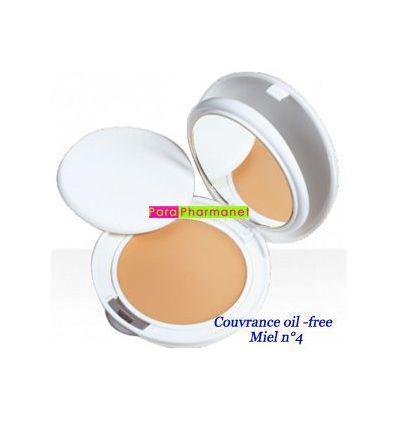 Couvrance 04 crème de teint compact MIEL OIL FREE peaux normales à mixtes n°4 Avène