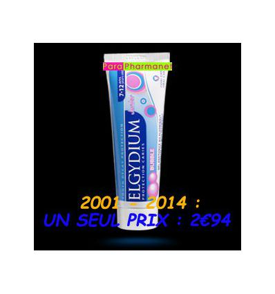 Elgydium Bubble Junior 7-12 ans Dentifrice Pierre Fabre
