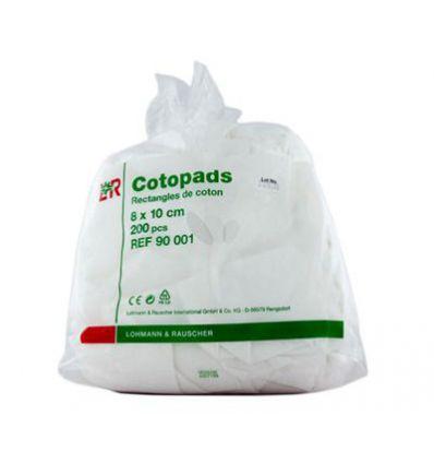 Cotopads. Rectangles cotons 8x10cm. Sachet de 200