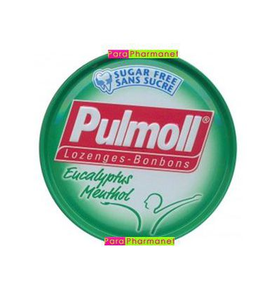 Pulmoll pastilles to be sucked sugar free green box of 45G