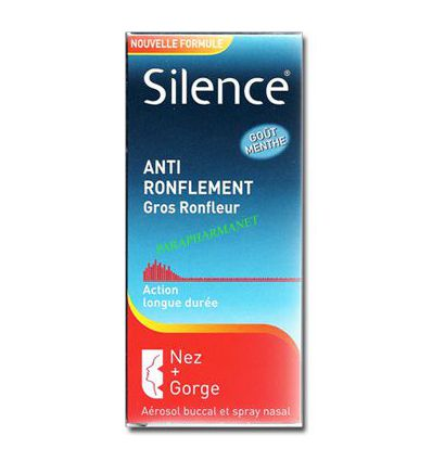 Silence Gros Ronfleurs Anti-Ronflement Nez + Gorge Omega
