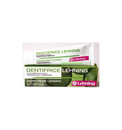 Homeopathic Toothpaste - Lehning