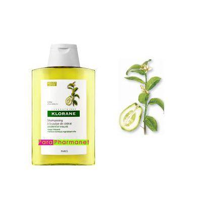 Shampoing à la Pulpe de Cédrat vitalité 400 ml Klorane