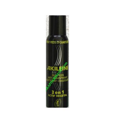 Spray Noir 150 ml spray pieds & chaussures AKILEINE