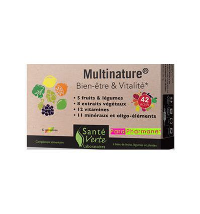 Multinature well-being & vitality food suplmt sante verte