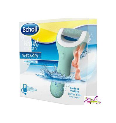 SCHOLL WET DRY VELVET SMOOTH FEET HYGIENE CARE foot file