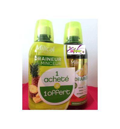 MILICAL DRAINEUR MINCEUR ANANAS lot de 2 *500ml