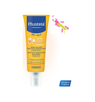 MUSTELA LAIT SOLAIRE PROTECTION SOLAIRE BEBE 50, tube 200 ml