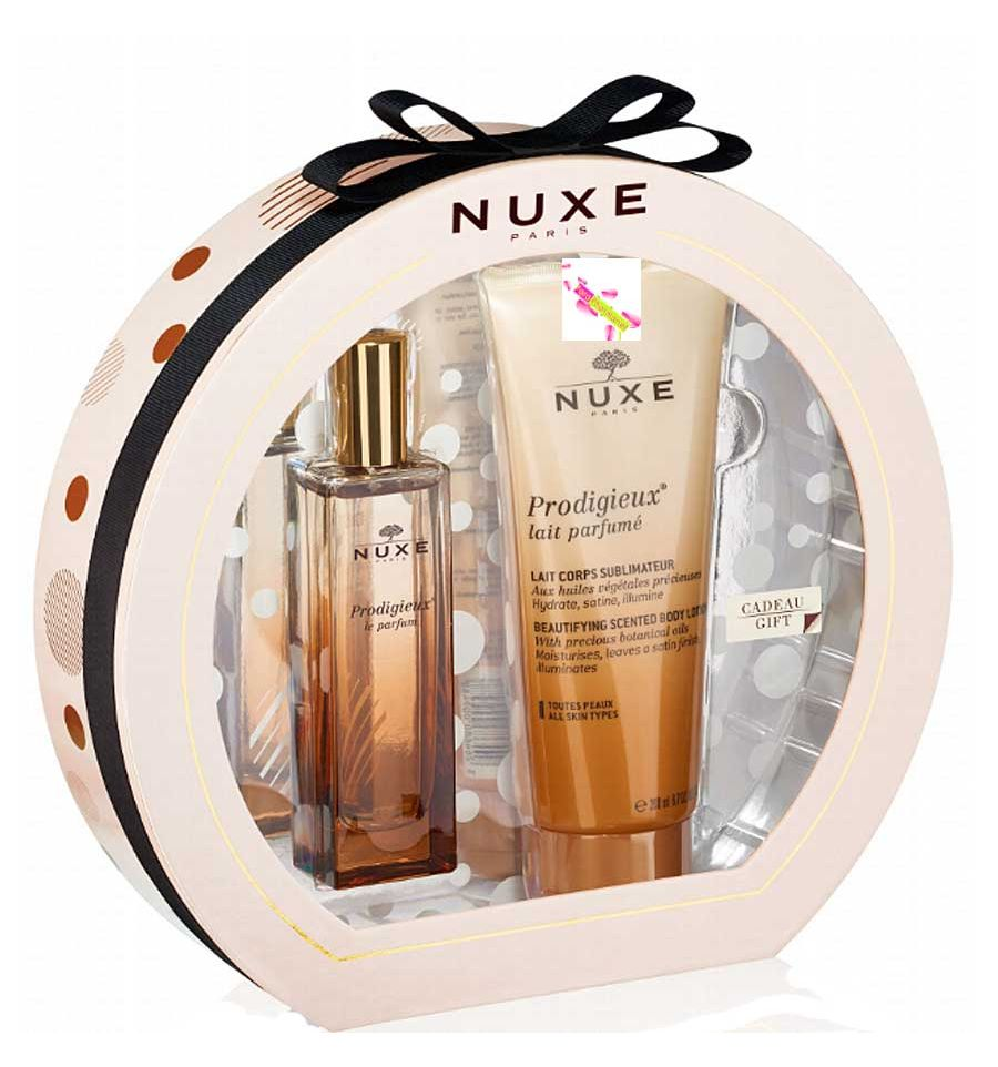 nuxe coffret prodigieux parfum et lait parfum nuxe parapharmacie. Black Bedroom Furniture Sets. Home Design Ideas