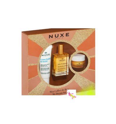 NUXE COFFRET DE Rêve 3 soins huile prodigieuse, crème fraiche et baume lèvres