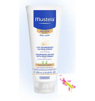 MUSTELA DRY SKIN BABY BODY LOTION COLD CREAM