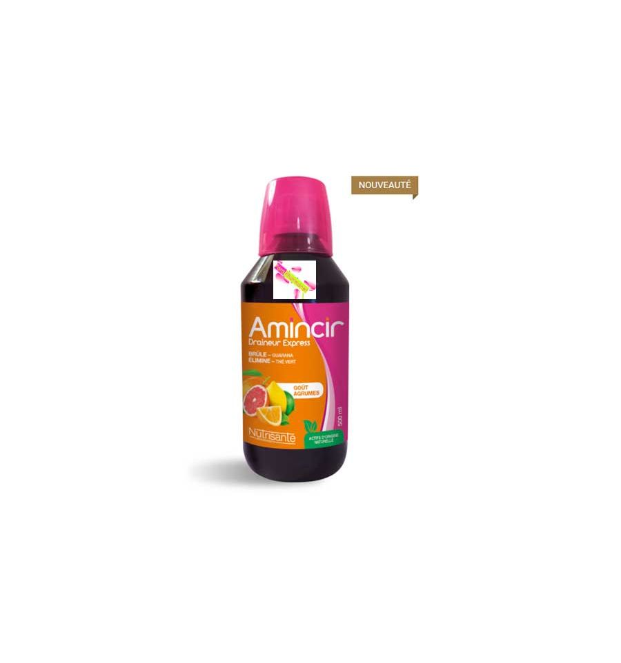 AMINCIR Draineur Express Minceur Nutrisanté 500 ml AGRUMES
