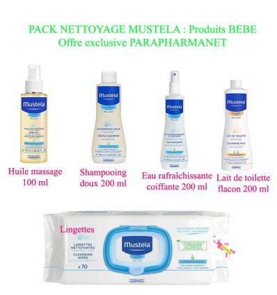 MUSTELA OFFRE SPECIAL PACK PRODUITS DISCOUNT