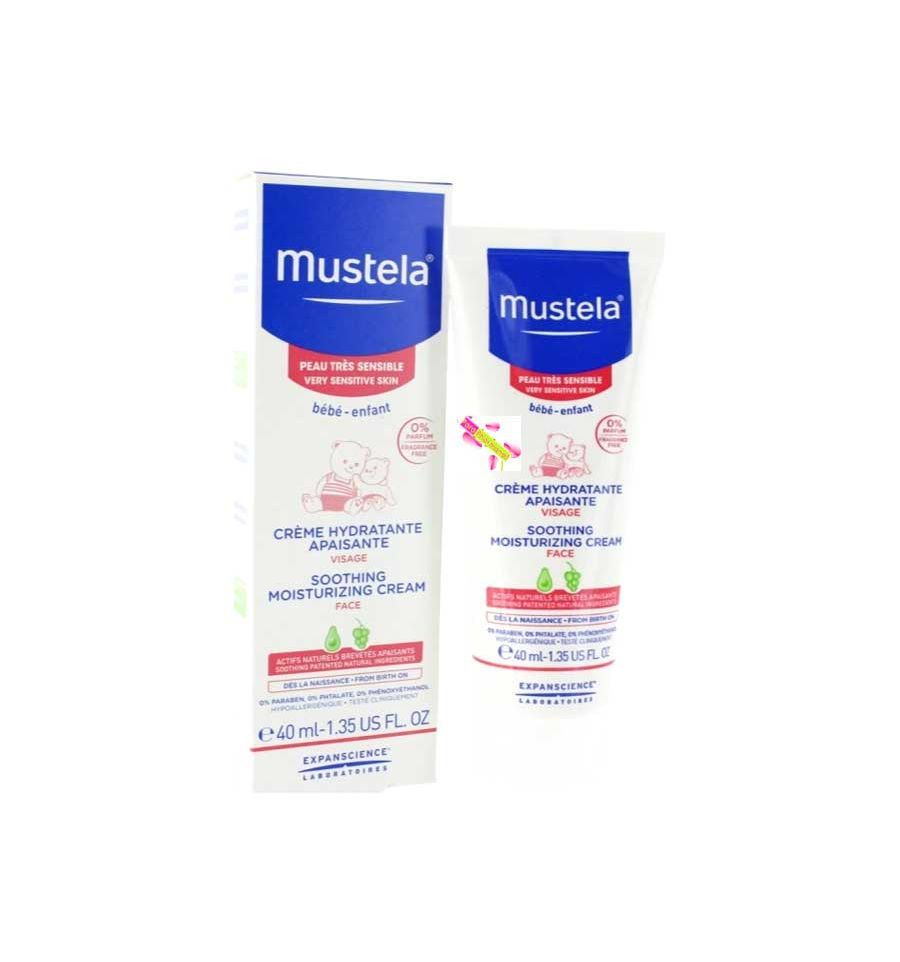 mustela bebe creme visage hydratante mustela peau tr s sensible mus. Black Bedroom Furniture Sets. Home Design Ideas