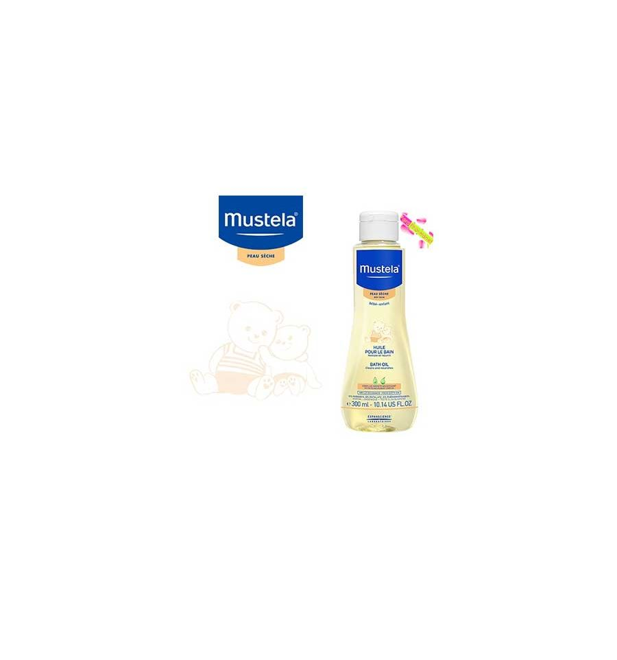 mustela bebe huile pour le bain mustela peau s che 300 ml mustela p. Black Bedroom Furniture Sets. Home Design Ideas
