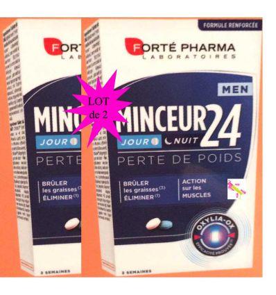 Minceur 24 FORT MEN FORTE Pharma lot de 2*28cp