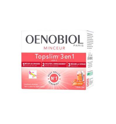 TOPSLIM Stick 3 en 1 TOP SLIM Oenobiol Minceur peach tea