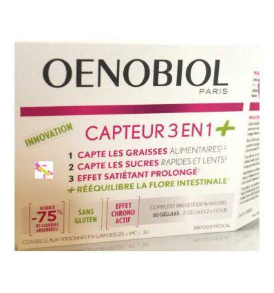 OENOBIOL CAPTEUR 3 en 1 + prébiotiques 60 gélules