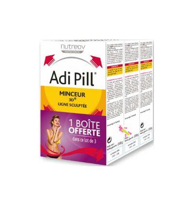 Adi Pill Métabolisme des graisses Minceur 3D lot de 3 Adipill NutreoV