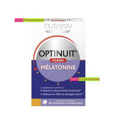 Optinuit Flash Mélatonine 30 cp oro-dispersibles anti-décalage NutreoV