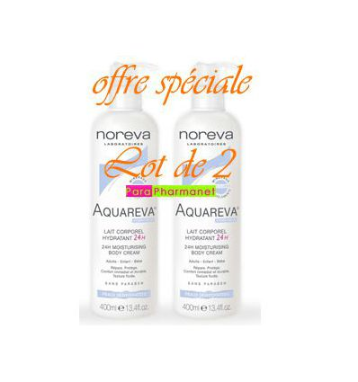AQUAREVA MOISTURISING BODY Cream pack of 2 NOREVA