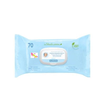Thick Clean wipes baby diaper klorane