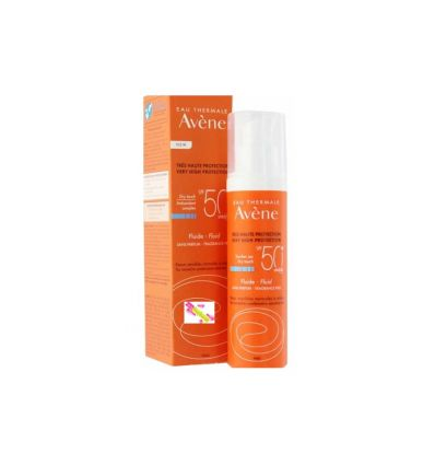 avene fluide solaire spf 50 sans parfum soin solaire visage 50 ml a. Black Bedroom Furniture Sets. Home Design Ideas