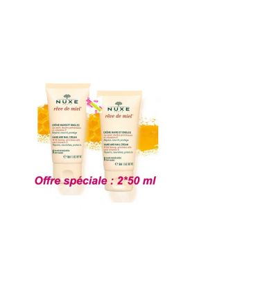 Rêve de Miel Hand and Nail cream honey dream Pack of 2 NUXE