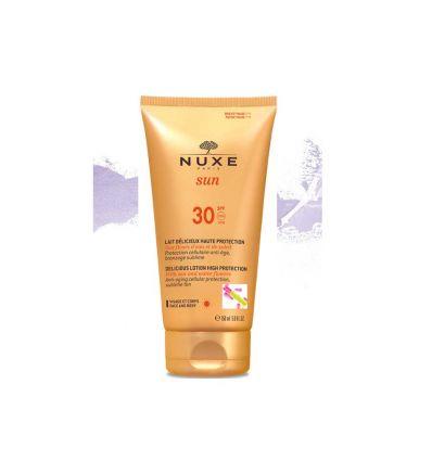 Delicious Lotion Body & face SpF 30 solar Protection nuxe Sun