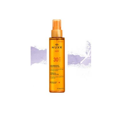 Tanning oil Face and Body SPF 30 NUXE SUN solar product
