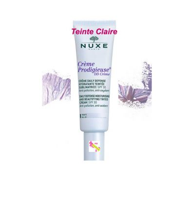 Daily defense moisturizing cream face care DD Cream tinted light Shade NUXE