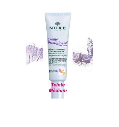 Daily defense moisturizing cream face care DD Cream tinted medium Shade NUXE