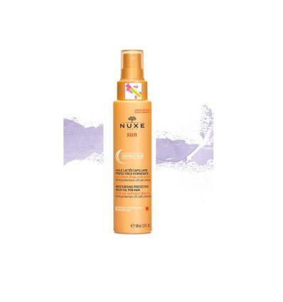 Huile lactée capillaire protectrice cheveux Nuxe Sun