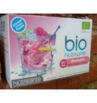 Infusion Elimination Reine des Près Hibiscus à l'eau fraîche Bio Nutrisanté