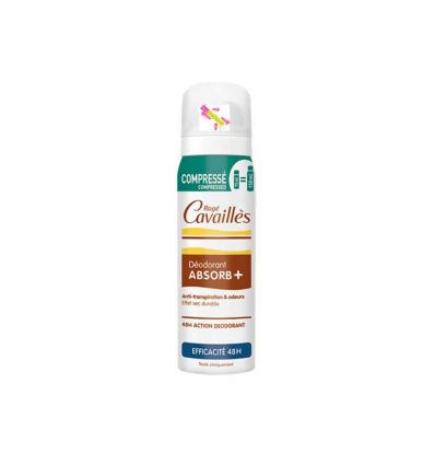 DÉODORANT DÉO ABSORB+ EFFICACITE 48H spray ROGÉ CAVAILLÈS 75 ml compressed technologie